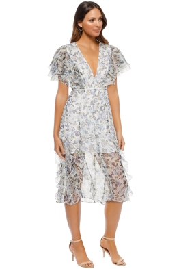 Talulah - Provocator V Neck Midi Dress - Ivory Floral - Side
