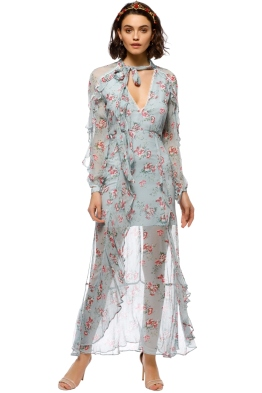 Talulah - The Knowing Midi Dress - Blue Floral - Front