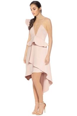 Talulah - The Sisters Asymmetrical Midi Dress - Pink - Side
