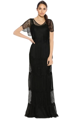 Tania Olsen - Clara Evening Gown - Black - Front