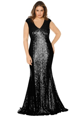 Theia - Kaylee Gown - Black - Front