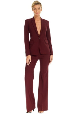 Theory - Crepe Jacket and Pant - Burgundy - Front
