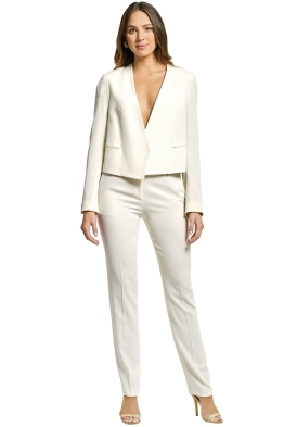Theory - Elfinis Jacket and Pant Set - Ivory - Front