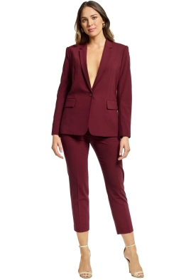 Theory - Essential Jacket Treeca Pant - Currant - Front