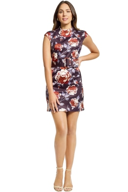 Theory - Mod Belt Dress - Navy Floral - Front