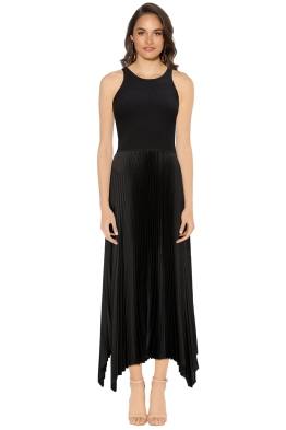 Theory - Vinessi Pleat Dress - Black - Front