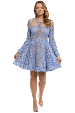 Thurley - Bluebell Lace Dress - Blue - Front