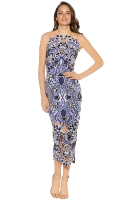 Thurley - Blues Festival Dress - Blue - Front