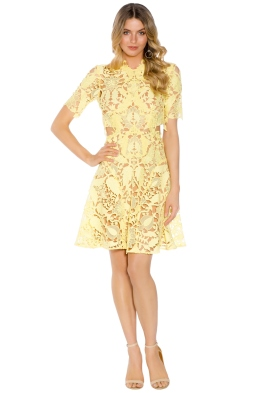Thurley - Dandelion Mini Dress - Yellow - Front