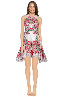 Thurley - Flower Bomb Lace Mini Dress - White Floral - Front