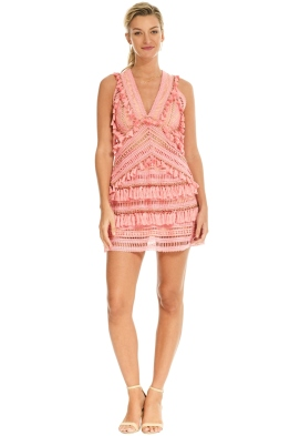 Thurley - Foxtrot Dress - Flamingo Pink - Front