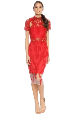 Thurley - Indianna Dress - Front - Red