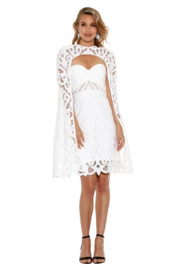 Thurley - Khalessi Cape Dress - Front - White