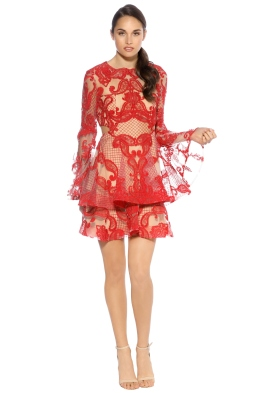 Thurley - Paisley Passion Dress - Front - Red