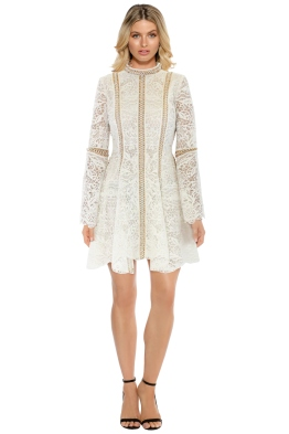 Thurley - Pearly Trim Dress - Front