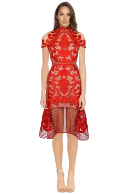 Thurley -  Rose Ceremony Midi Dress - Rose Nude - Front