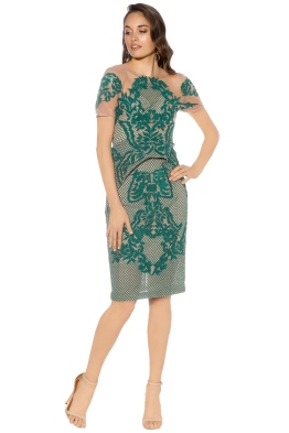 Thurley - Rosetta Stone Dress - Emerald - Front