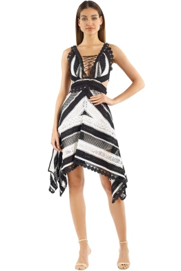 Thurley - Tango Dress - Black White - Front