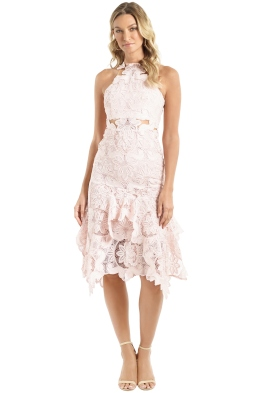 Thurley - Waterlily Midi Dress - Blush - Front