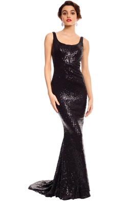 Annalise Sequin Gown - Black