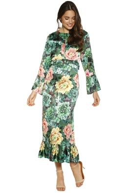 Trelise Cooper - Kill Them With Kindness Dress - Green Floral - Front