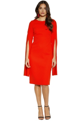 Trelise Cooper - Up Your Sleeve Dress - Tangerine - Front