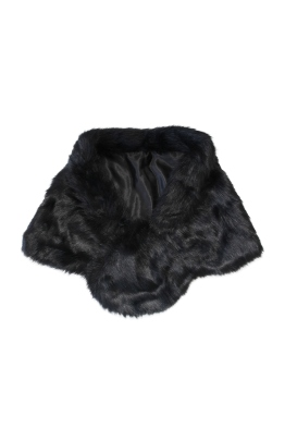 Tulip Bridal - Faux Fur Wrap - Black