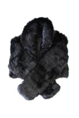 Tulip Bridal - Faux Fur Bolero - Black