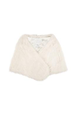 Unreal Fur - Yasmine Shrug - Ivory - Front