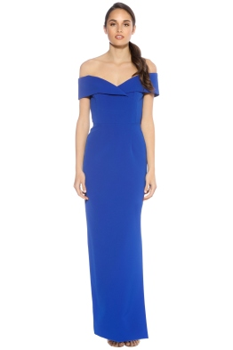 Unspoken - Alexa Long Dress Cobalt Dress - Front - Blue
