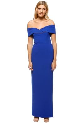 Unspoken - Alexa Long Dress - Cobalt Blue - Front