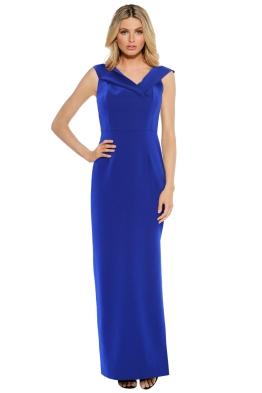 Unspoken - Alexa Long Dress Cobalt Dress - Front