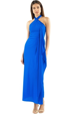 Unspoken - Geranium Long Dress - Cobalt - Front