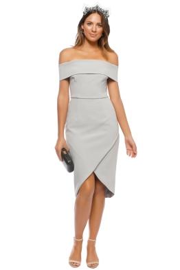 Unspoken - Jamai Short Dress - Dove Grey - Front