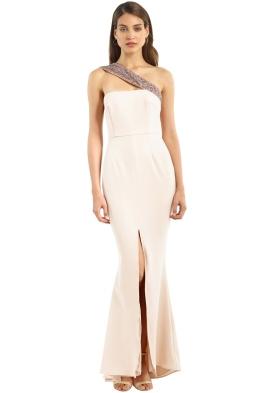 Unspoken - Stellar Long Dress - Nude - Front