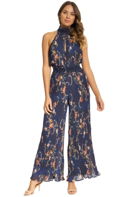 We Are Kindred - Adele Pleated Jumpsuit - Midnight - Front