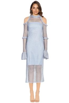 We Are Kindred - Annastasia Cold Shoulder Dress - Sky - Front