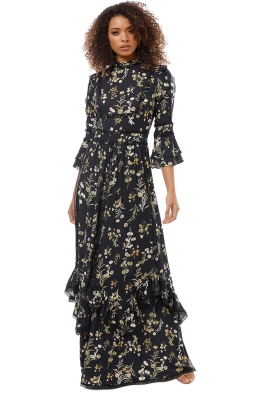 We Are Kindred - Black Botanica Maxi Dress - Black Floral - Front