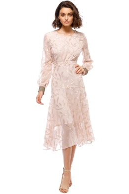 We Are Kindred - Luella Leaf Dress - Pastel Pink - Front