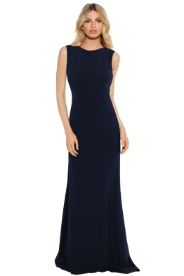 When Freddie Met Lilly - Anastasia Gown - Navy - Front