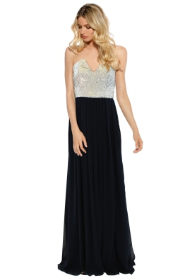When Freddie Met Lilly - Susannah Sequin Gown - Navy Silver - Front