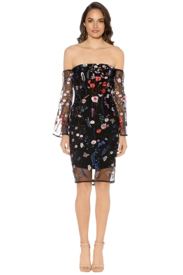 Winona - Mayfair Dress - Navy Floral - Front