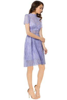 Yeojin Bae - Applique Lace Sienna Dress - Lilac - Side