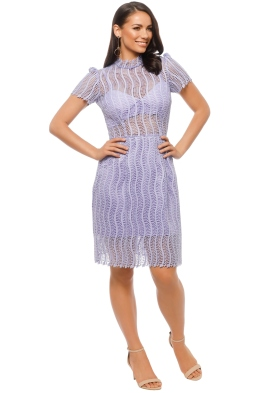 Yeojin Bae - Applique Lace Sienna Dress - Lilac - Front