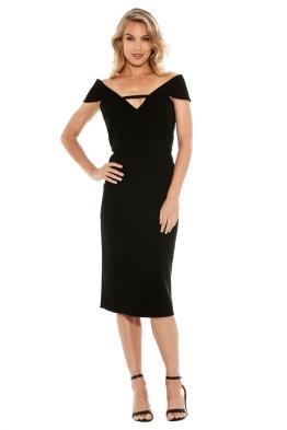 Yeojin Bae - Double Crepe Corrine Dress - Black - Front