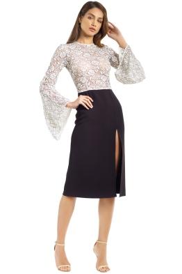 Yeojin Bae - Elise Corded Lace Dress - Black White - Front