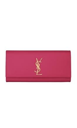 Yves Saint Laurent – Classic Monogram Fuchsia Clutch