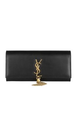 Yves Saint Laurent - Classic Monogram Tassel Clutch Black