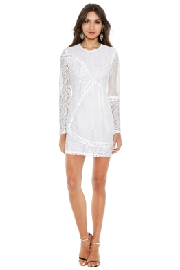 Zimmermann - Anais Lace Dress in White - Front