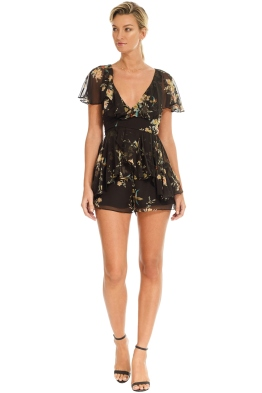 2fd29b3fa311 Zimmermann - Maples Wrap Playsuit - Black Floral - Front